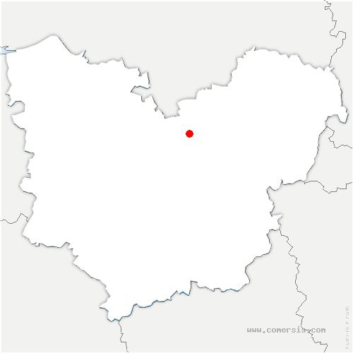 carte de localisation de Louviers