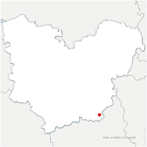 carte de localisation de Louye
