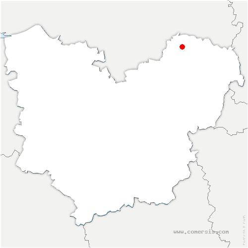carte de localisation de Lyons-la-Forêt