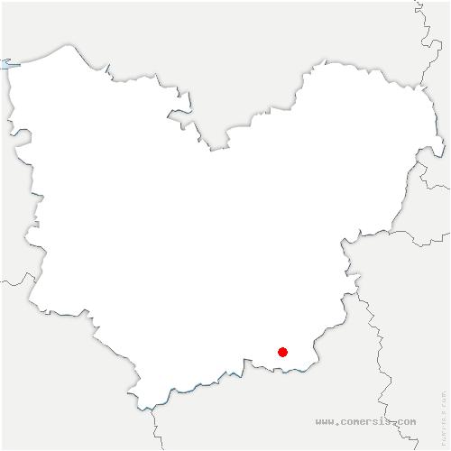 carte de localisation de Madeleine-de-Nonancourt