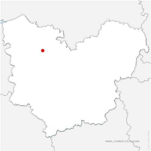 carte de localisation de Malleville-sur-le-Bec