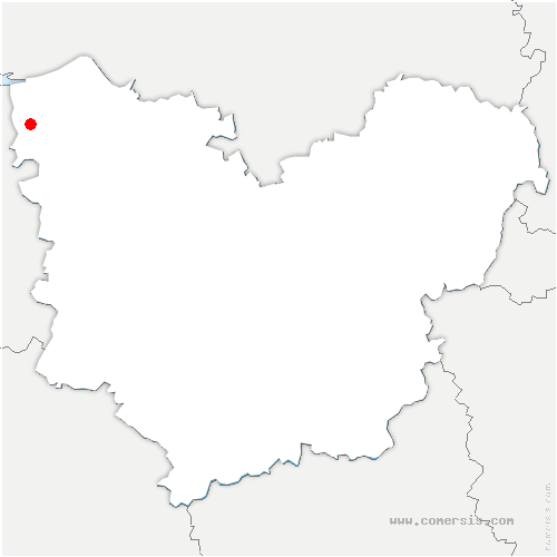 carte de localisation de Manneville-la-Raoult