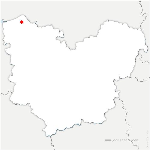 carte de localisation de Marais-Vernier