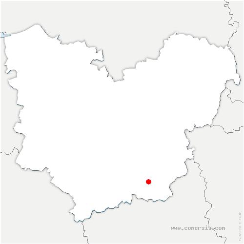 carte de localisation de Marcilly-la-Campagne