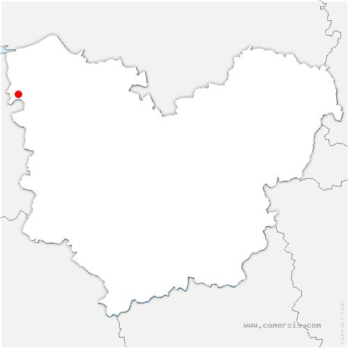 carte de localisation de Martainville