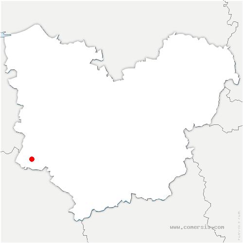 carte de localisation de Mélicourt