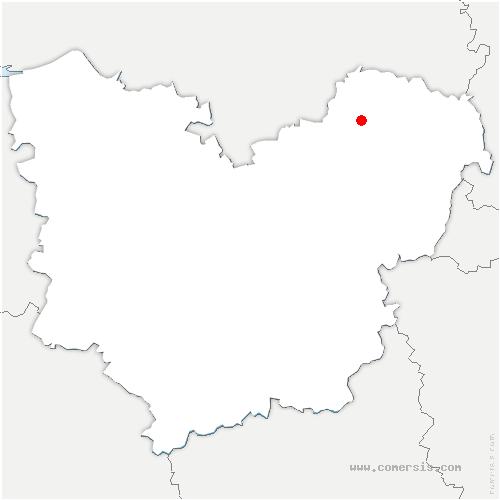 carte de localisation de Ménesqueville