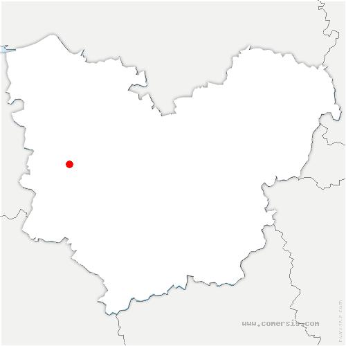 carte de localisation de Menneval