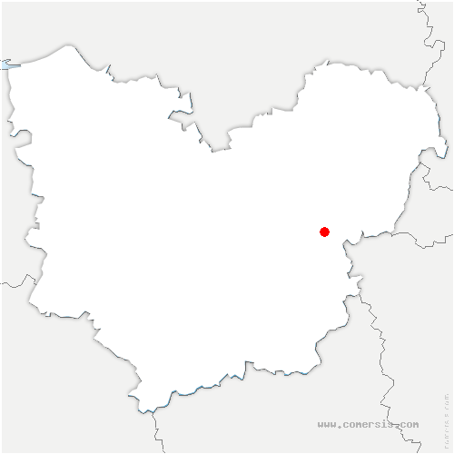 carte de localisation de Mercey