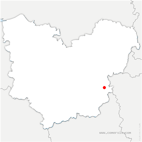 carte de localisation de Merey