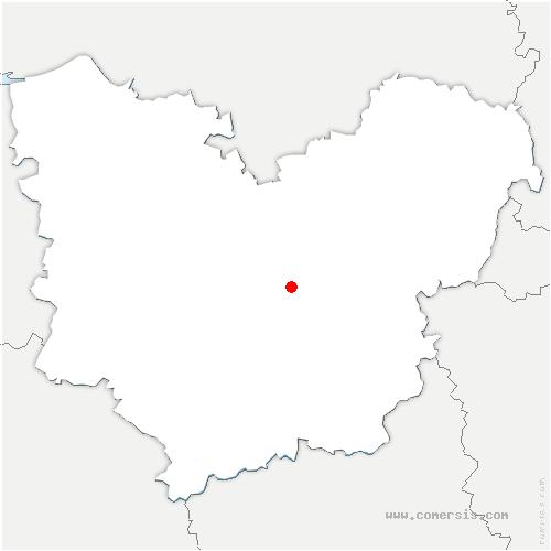 carte de localisation de Mesnil-Fuguet