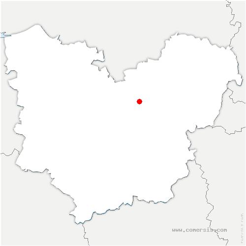 carte de localisation de Mesnil-Jourdain