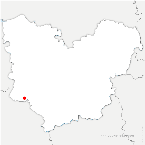 carte de localisation de Mesnil-Rousset