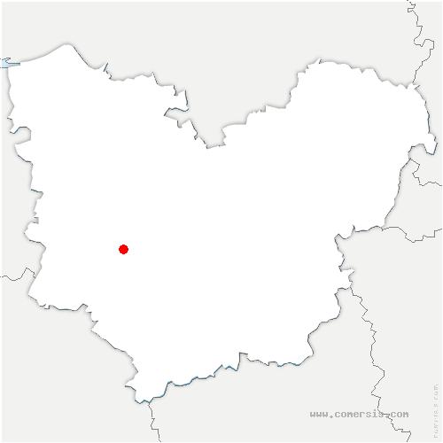 carte de localisation de Mesnil-en-Ouche
