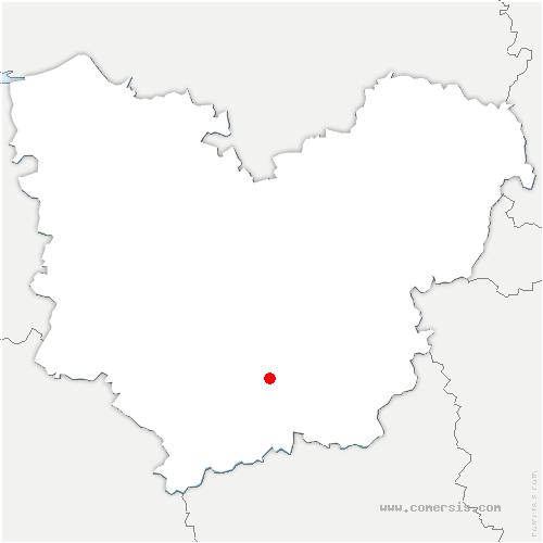 carte de localisation de Mesnils-sur-Iton