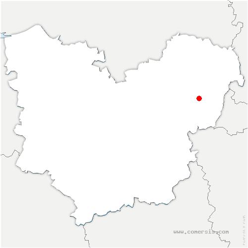 carte de localisation de Mézières-en-Vexin