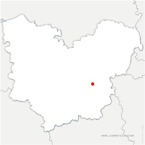 carte de localisation de Miserey