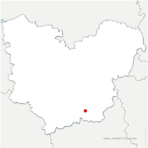 carte de localisation de Moisville