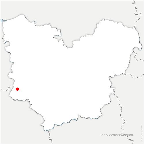 carte de localisation de Montreuil-l'Argillé