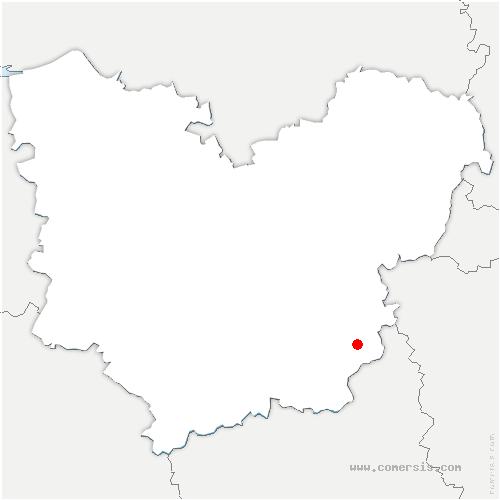 carte de localisation de Mouettes