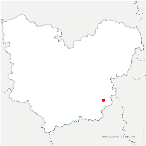 carte de localisation de Mousseaux-Neuville