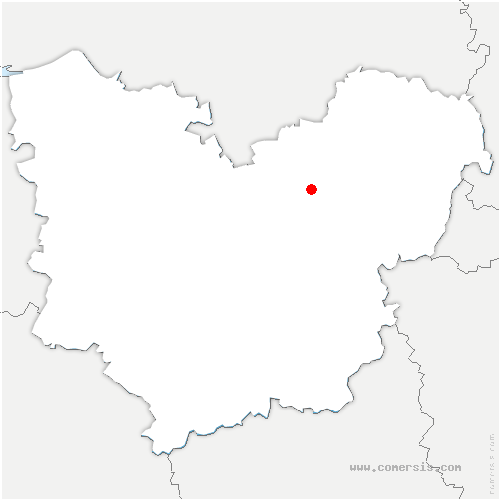 carte de localisation de Muids