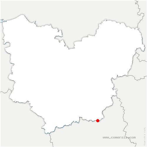 carte de localisation de Muzy