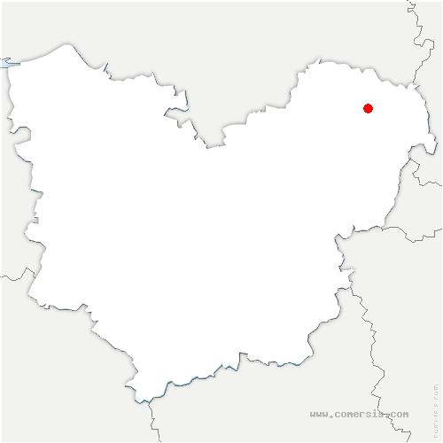carte de localisation de Neuve-Grange