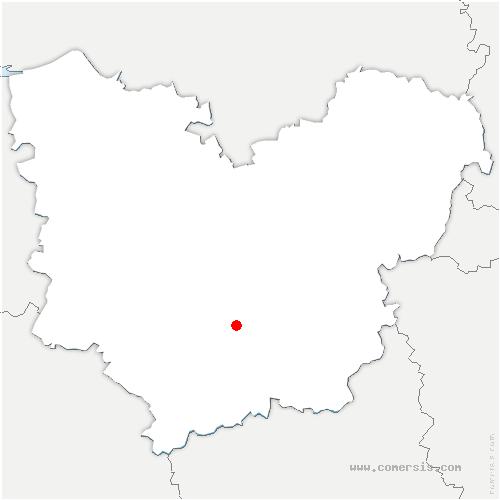 carte de localisation de Nogent-le-Sec