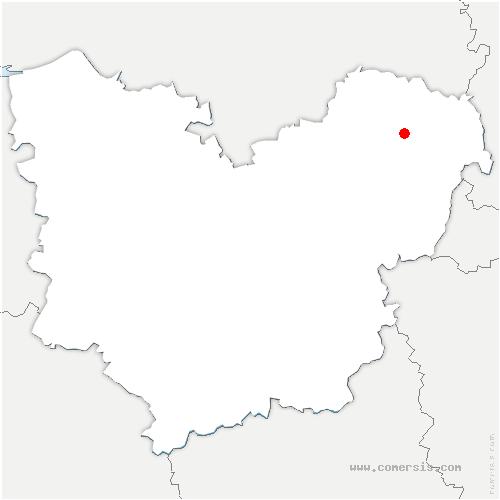 carte de localisation de Nojeon-en-Vexin