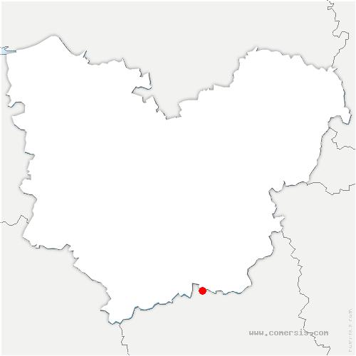 carte de localisation de Nonancourt