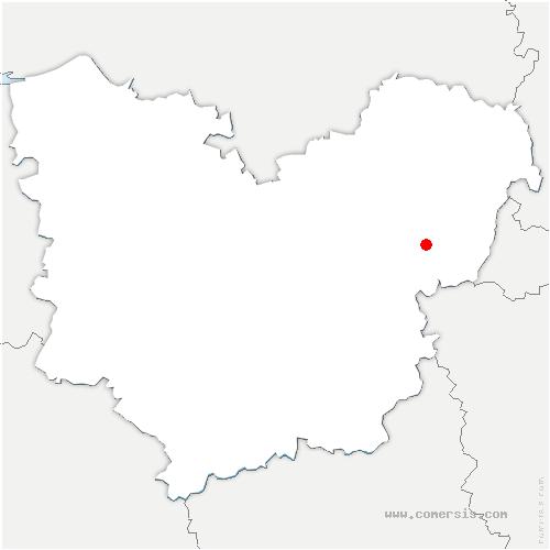 carte de localisation de Notre-Dame-de-l'Isle