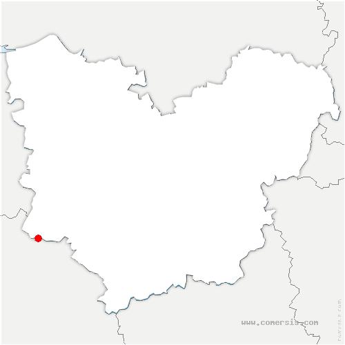 carte de localisation de Notre-Dame-du-Hamel