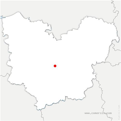 carte de localisation de Ormes