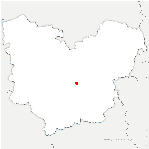 carte de localisation de Parville