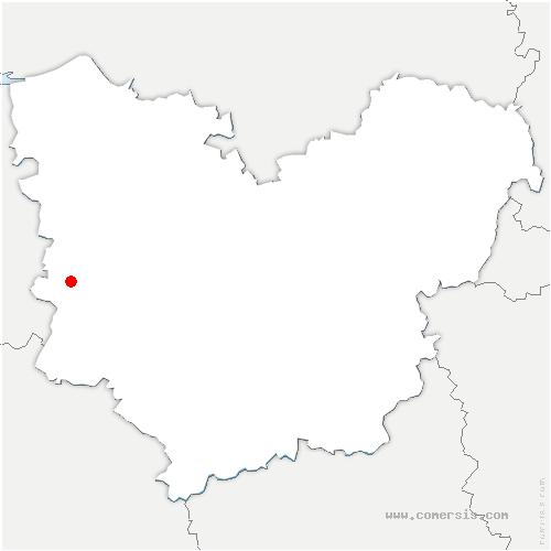 carte de localisation de Plainville