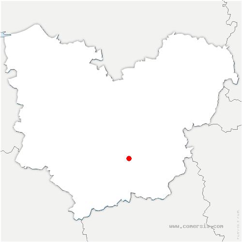 carte de localisation de Plessis-Grohan