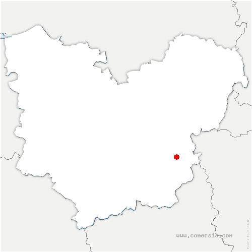 carte de localisation de Plessis-Hébert