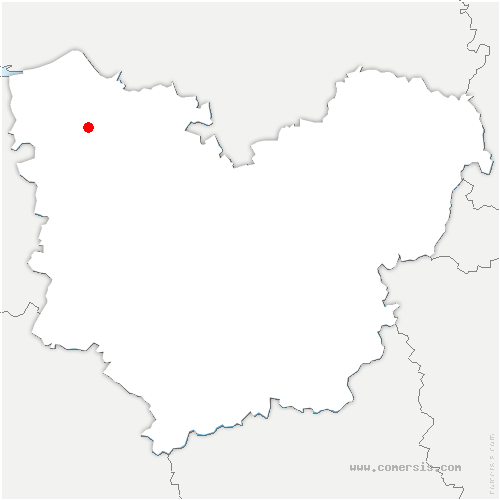 carte de localisation de Pont-Audemer