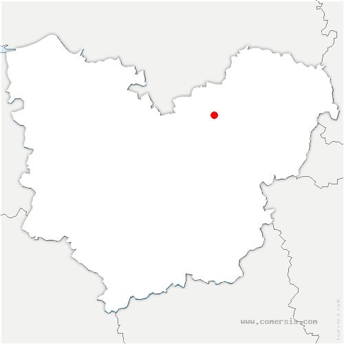 carte de localisation de Porte-de-Seine