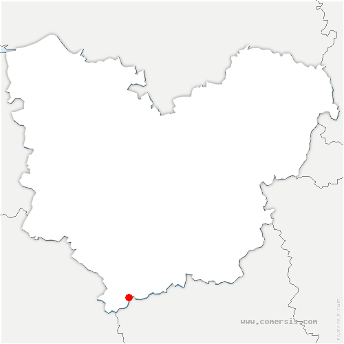 carte de localisation de Pullay