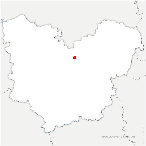carte de localisation de Quatremare