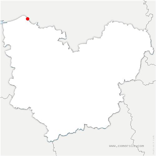 carte de localisation de Quillebeuf-sur-Seine