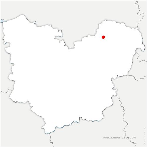 carte de localisation de Radepont
