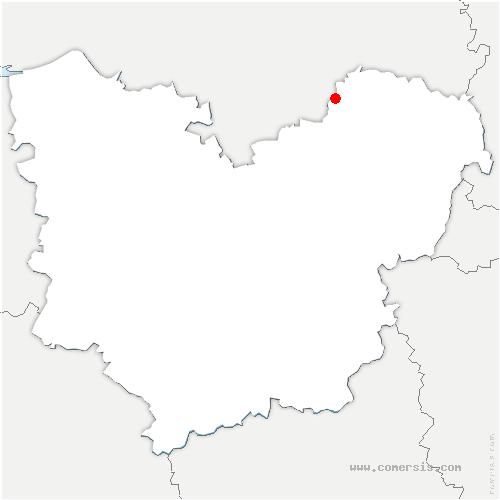 carte de localisation de Renneville