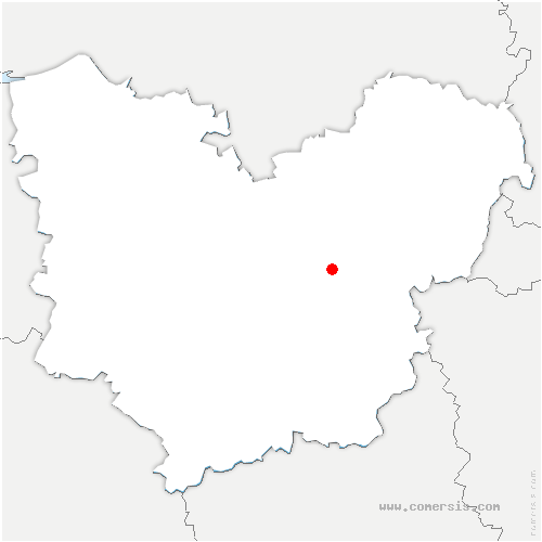 carte de localisation de Reuilly