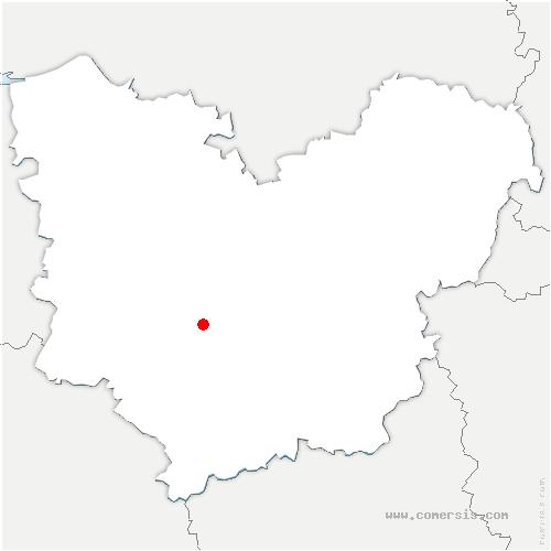 carte de localisation de Romilly-la-Puthenaye