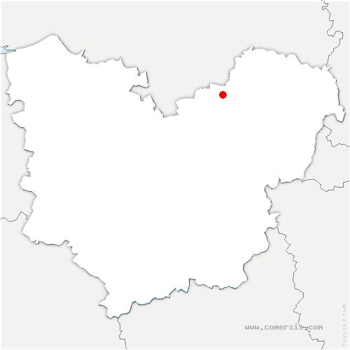 carte de localisation de Romilly-sur-Andelle
