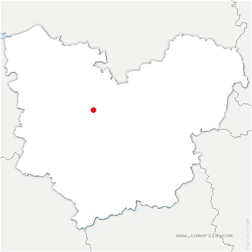 carte de localisation de Rouge-Perriers