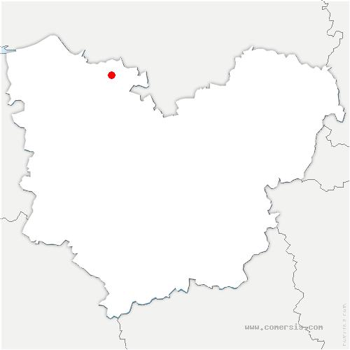 carte de localisation de Rougemontiers